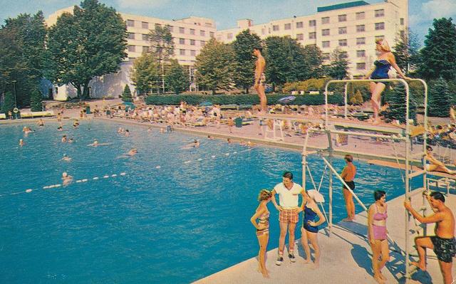 Concord Hotel - Kiamesha Lake, New York by What Makes The Pie Shops Tick?, via Flickr