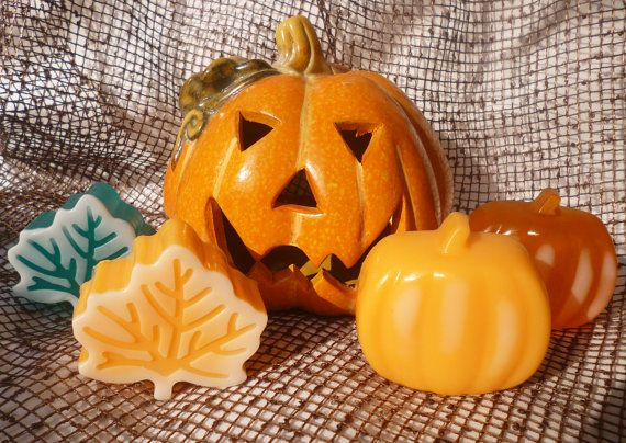 Pumpkin Soap Leaf Soap  Halloween Soaps  by StarSoapsbyIvana