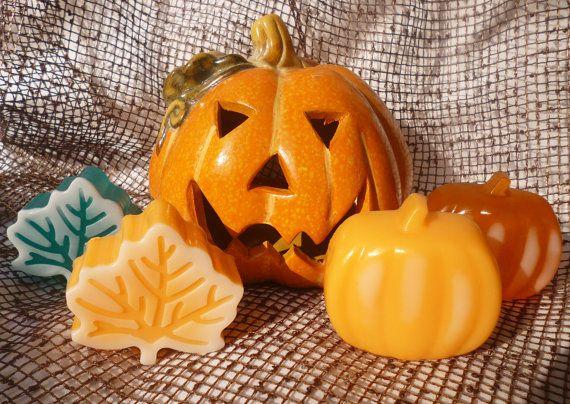 Pumpkin Soap Leaf Soap  Halloween Soaps  by StarSoapsbyIvana