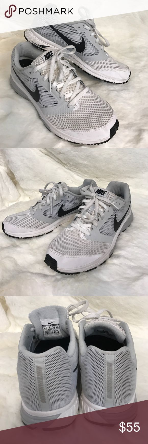 NIKE SNEAKERS B21 White and light grey NIKE! Best sport brand alive! Pre-loved with minor imperfections! Nike Shoes Sneakers