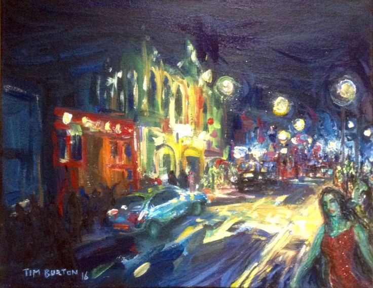 """Dark Wakefield"" series, acrylic on stretched canvas, 16""- 20"" inch."