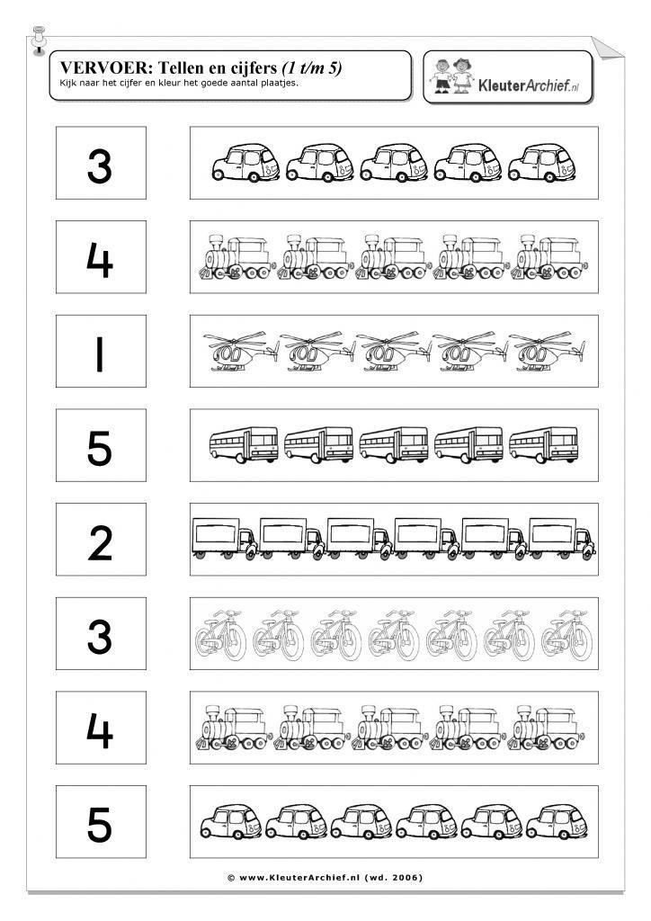 Werkblad: vervoer verkeer gecijferdheid cijfers