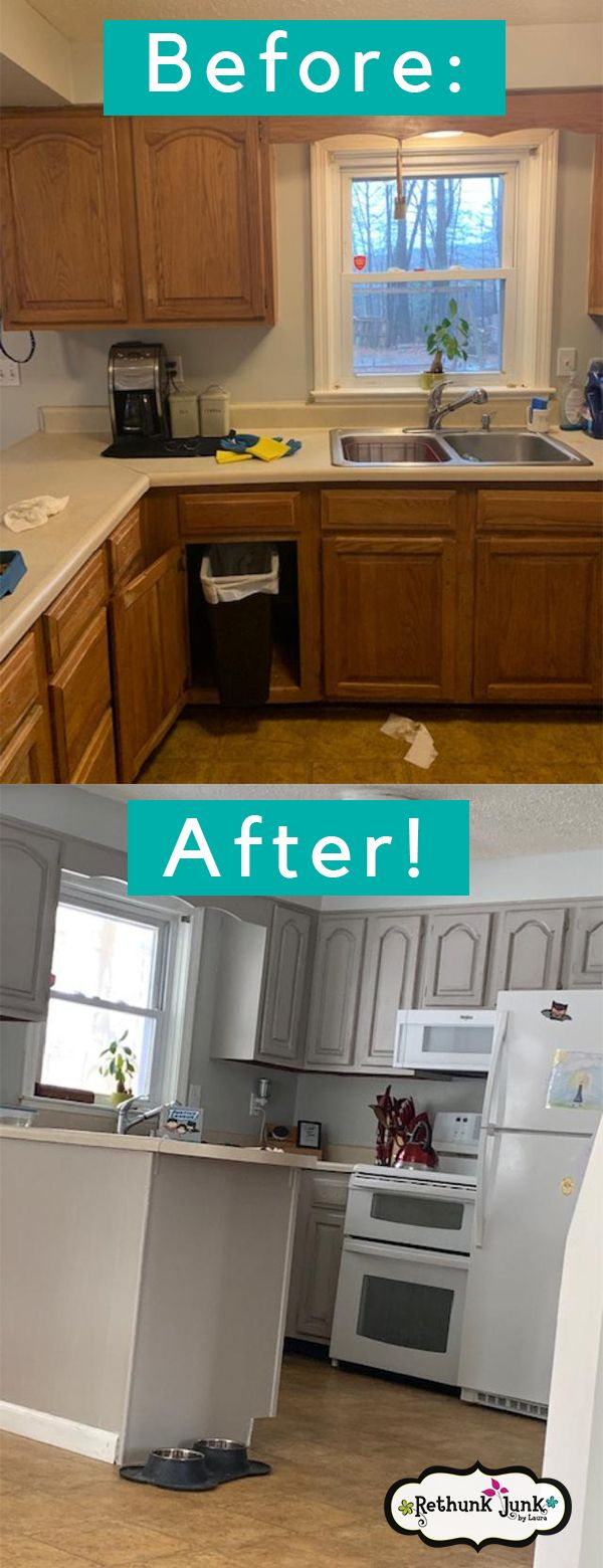 Need To Paint Your Kitchen Cabinets Rethunk Junk Makes It Easy And Affordable Check Out Our Kitchen Cabinets Painting Kitchen Cabinets Kitchen Cabinet Styles