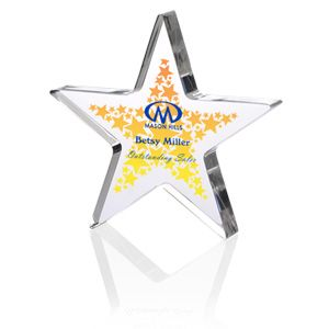 The sky is the limit of their success—this custom award expresses that!