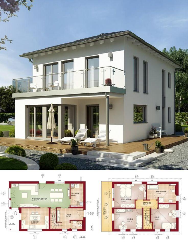 Stadtvilla modern Neubau mit Walmdach Architektur & Erker