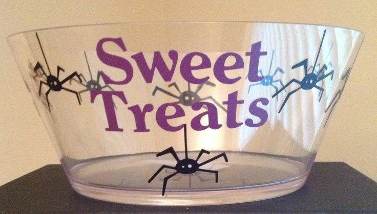 Personalized Bucket - Personalized Halloween Spider Treat Bowl - TDY Designs