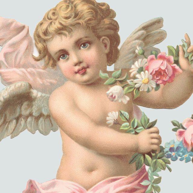 Цветы, иконки картинки на телефон с ангелочками