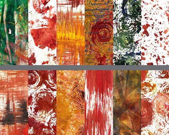 Seasonal Paint strokes digital downloadable scrapbook paper, $4.50