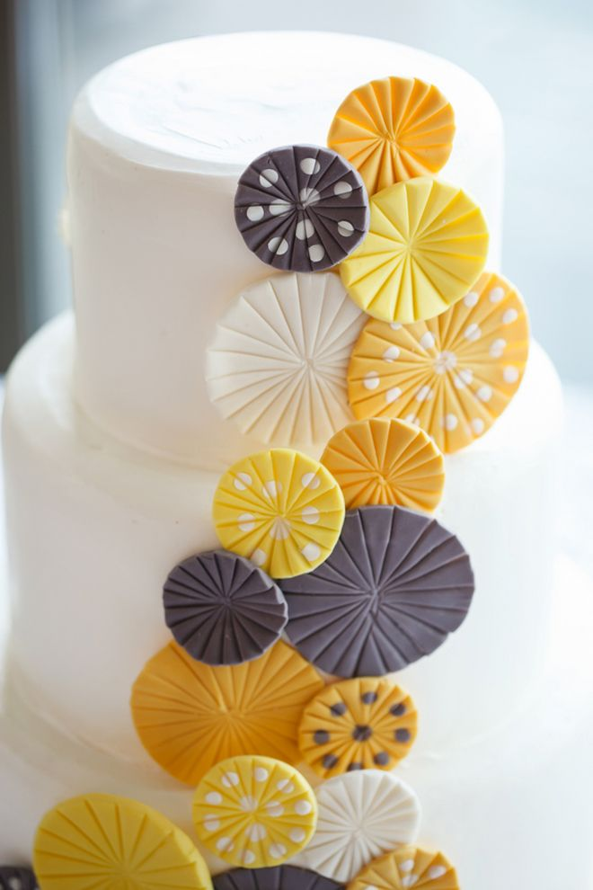 Yellow -Grey Contemporary Wedding in Florida via Belle The Magazine. Design and Decor by MMD events- FL