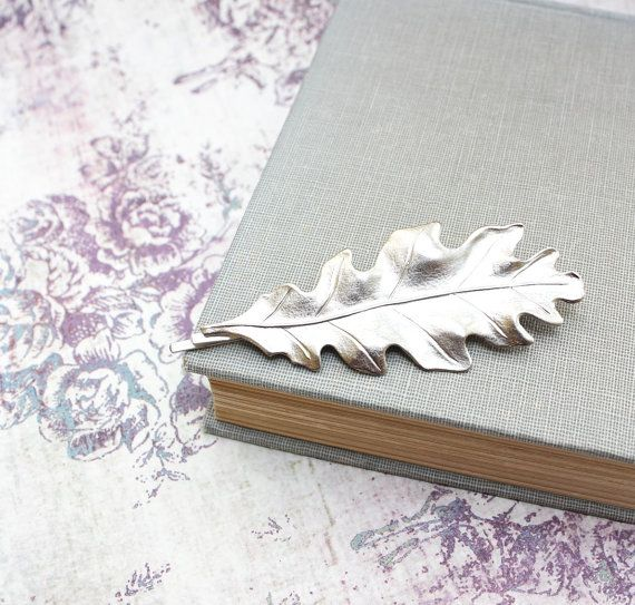 Leaf Hair Accessories Silver Leaves Nature Hair by apocketofposies