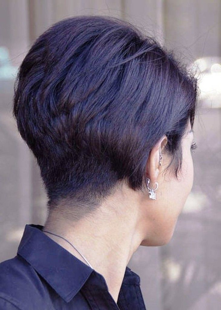 Short Wedge Hairstyles Back View Stacked Bob Haircut