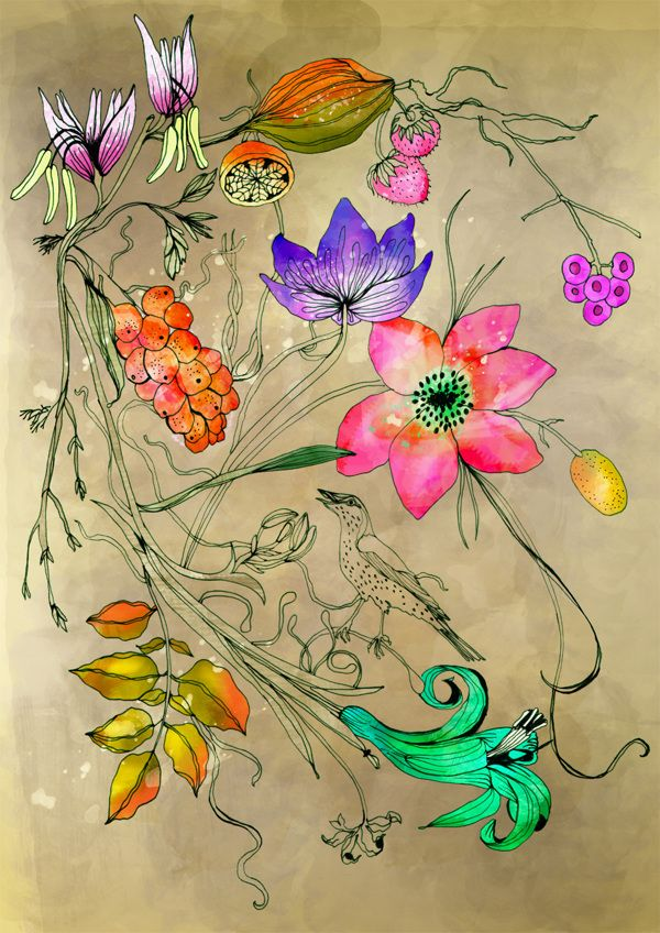 Paradise print by Ella Tjader, via Behance
