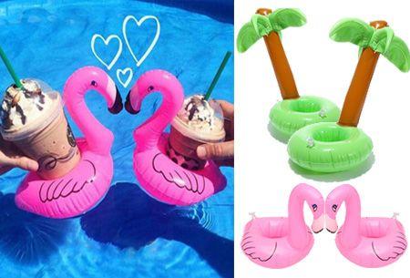 Opblaasbare bekerhouders nu 2 stuks voor slechts €4,95 | Heerlijk relaxen met je favoriete drankje! #drankjes #drinken #beker #zwembad #zee