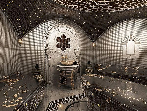 3d Visualization And Interior Design Of Turkish Bath Hamam