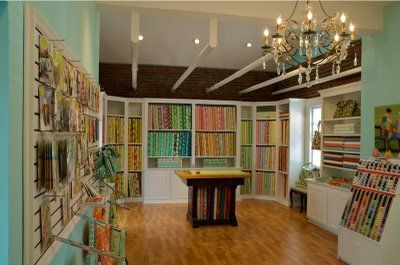 The most beautiful quilt shop interior ever - Karen Gray Design in North Carolina.