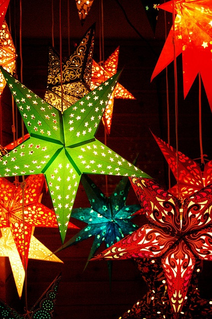Paper Star Lanterns. These were my favorites at the German Christmas markets