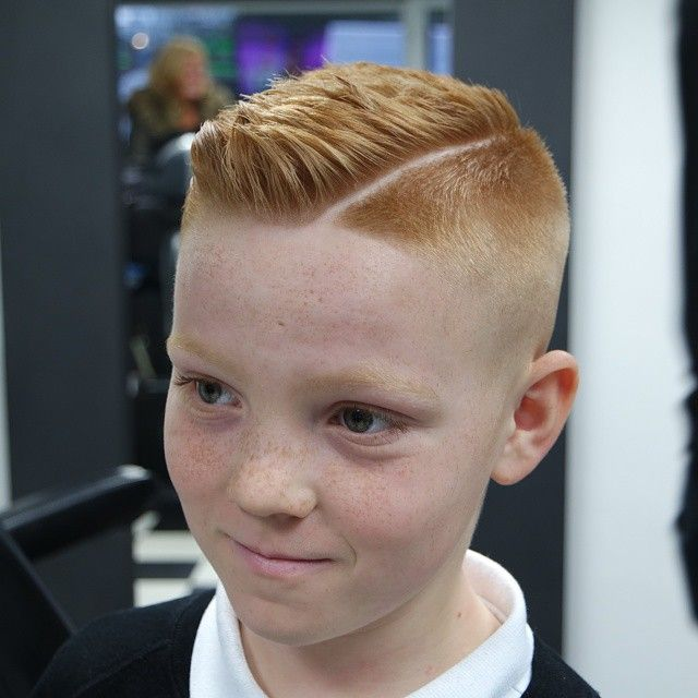 Slick Haircut With A Quiff On This Ginger Boy Boy
