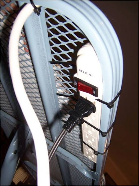 Love this idea of attaching a power strip to your ironing board to get a longer reach for your iron.