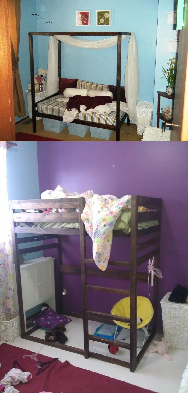 Diy convertible toddler bed made to fit crib mattress i