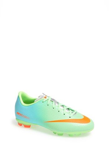 Too cute for soccer!!!  Nike 'Jr. Mercurial Victory' Soccer Cleat (Little Kid & Big Kid) available at #Nordstrom