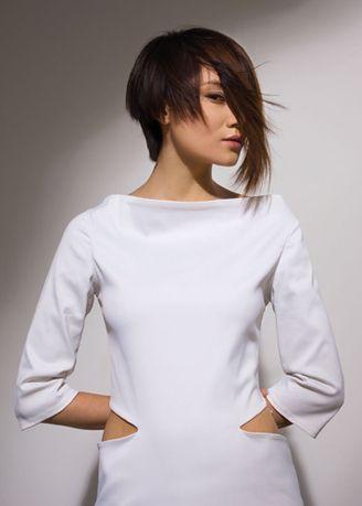 präsentiert von www.my-hair-and-me.de  #women #asian #style #asiatin #white #dress #weißes #kleid #braune #haare #brown #hair