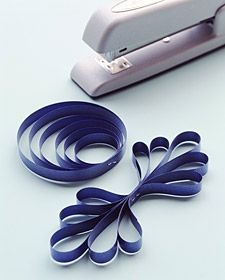 Create 6 circles of different sizes. Staple together on both sides. Easy gift bow idea!