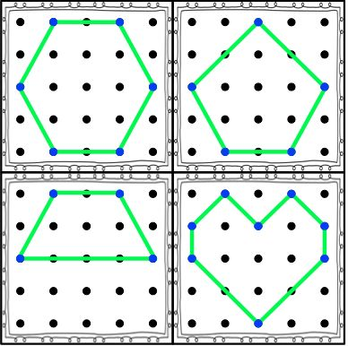 Geoboard Cards: Shapes, Numbers, and Pictures!