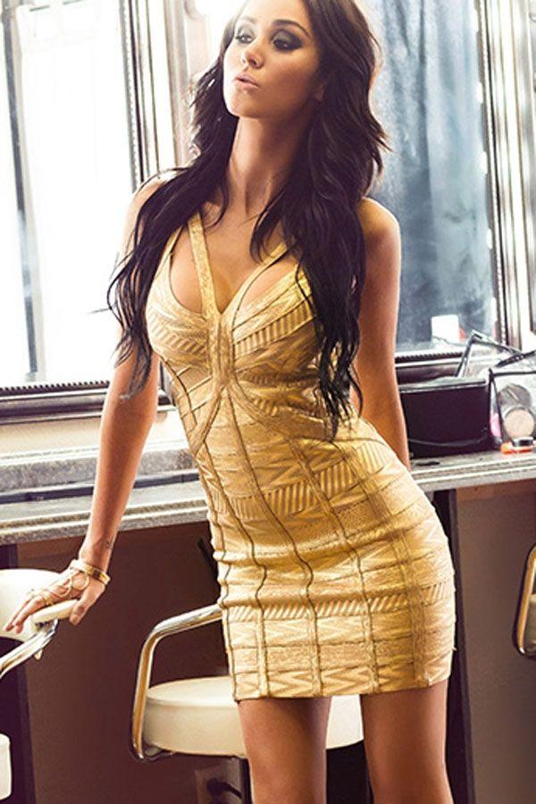 Sukienka złota cudowna bandażowa