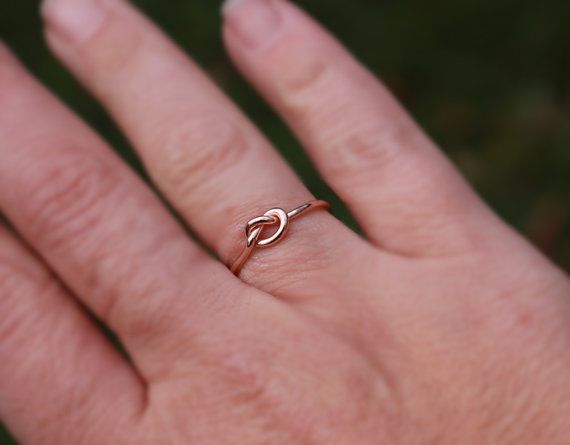 Rose Gold Knot Ring Rose Gold Love Knot Ring Bridesmaid