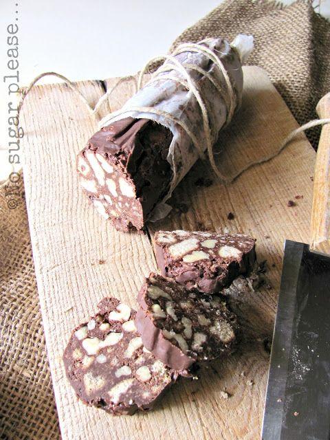 No sugar please...: Salame di cioccolato light, con le noci