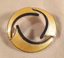Vermeil Sterling Silver Modernist Enamel Brooch, Bull Jansen & Prydz, Norway