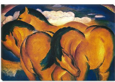 Little Yellow Horses by Franz Marc Canvas Print - iCanvasART.com