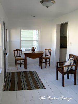 White washed floors tutorial #paint #wood #flooring