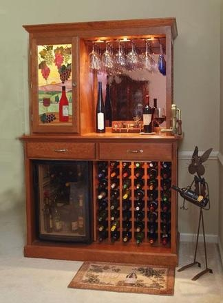 wine cabinet with frig