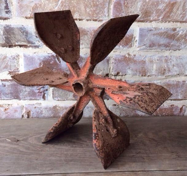 Old Antique Plow - Cast Iron Metal - Vintage Farm Industrial Wheel Gear Decor