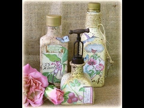 Vintage Bottle tutorial by Gabrielle Pollacco using Botanical Tea #tutorials #videos