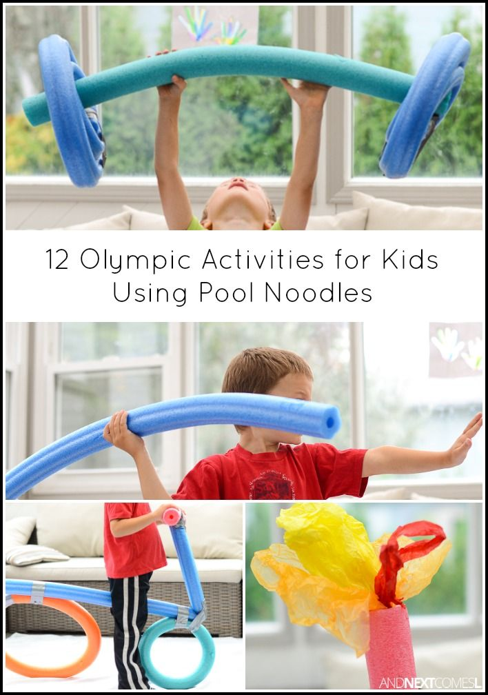 12 Olympic Activities for Kids Using Pool Noodles