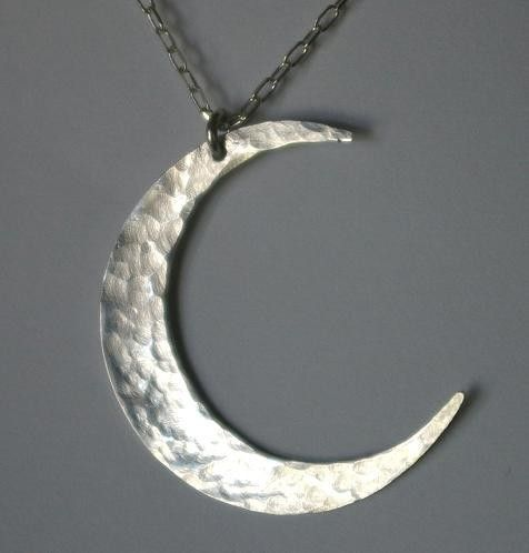 Moon Necklace Crescent Moon Necklace Sterling by ERiaDesigns