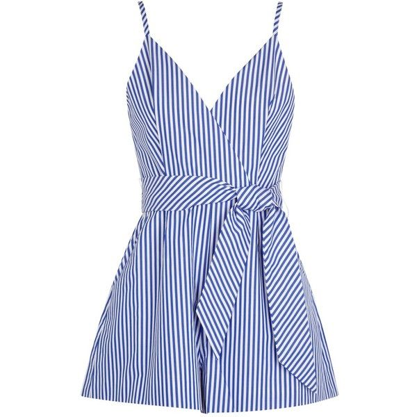 Womens Playsuits Finders Keepers Blow Your Mind Striped Cotton... (4.085 RUB) ❤ liked on Polyvore featuring jumpsuits, rompers, dresses, playsuit, romper, cotton romper, finders keepers jumpsuit, striped jumpsuits, romper jumpsuit and jump suit