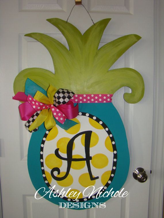 Large Pineapple Door Hanger Door Decoration Summer Door