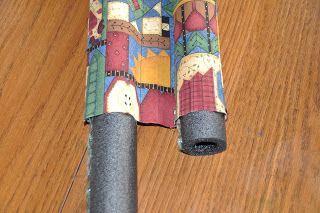 DIY Double Sided Door Draft Stopper cute way to keep rodents in as well
