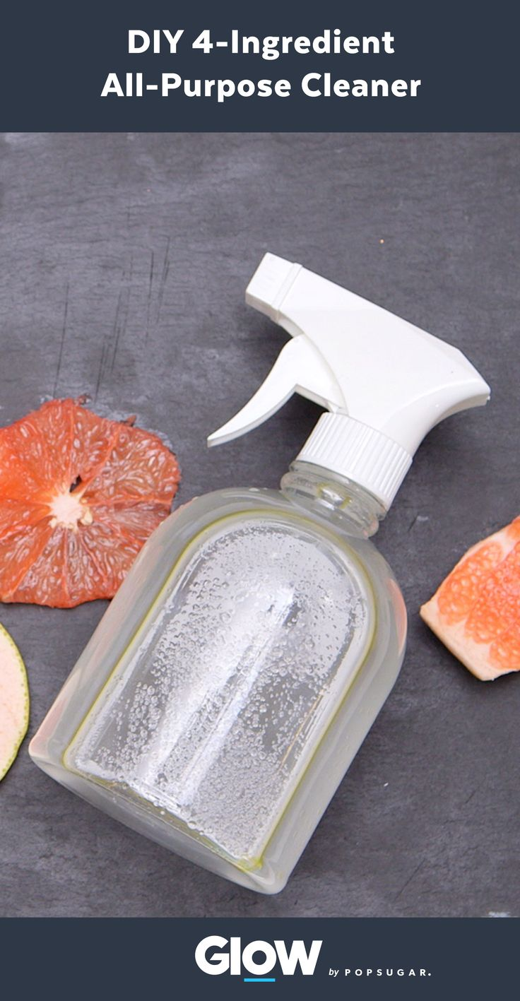 Make your own all-natural all-purpose cleaner with just 4 ingredients.