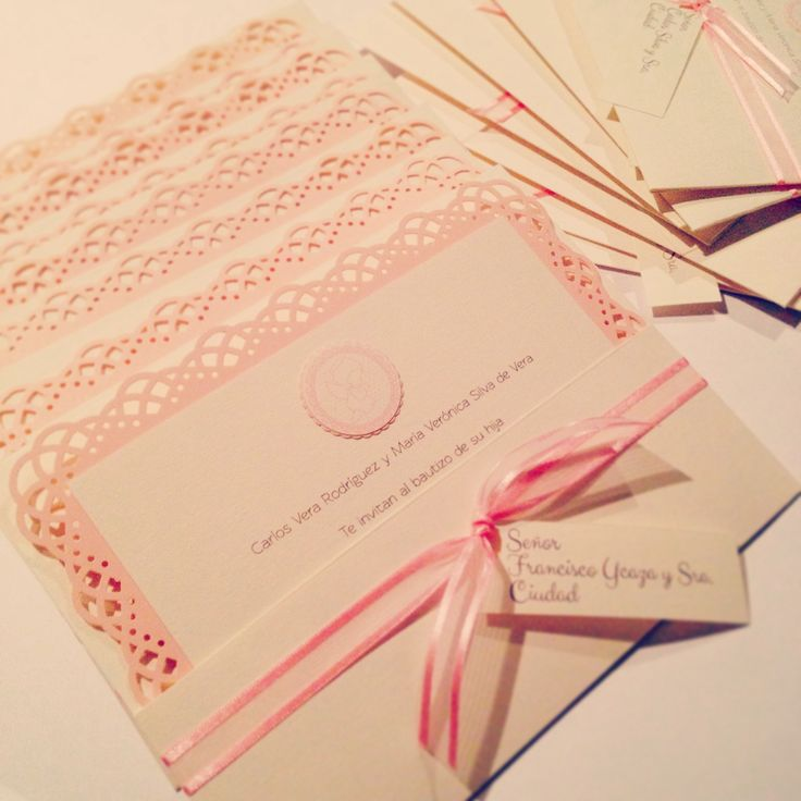 Baptism handmade invitations design by paperworks