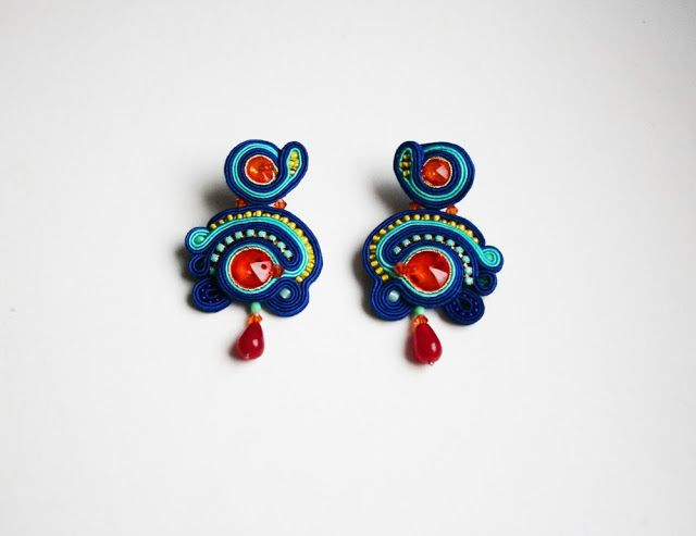 agtesa soutache: Klein Blue / wedding accesories / colorful bridal jewellery / boho and chic