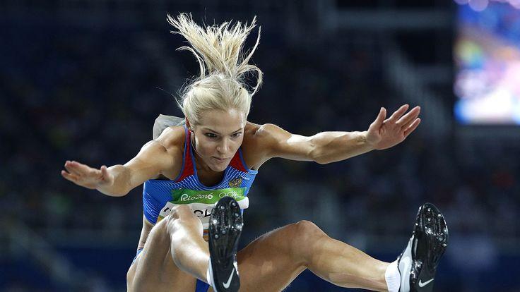 La Russe Darya Klishina lors des qualifications du saut en longueur des Jeux de Rio,