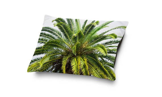 A beach tropical addition to your furry companions sleep settings, this soft and plush coral fleece pet bet comes adorned with a vibrant green date palm tree design atop! Available in several different bedding sizes to choose from, this pet bed accent makes for a warm and inviting addition to your dog or cats bedding arrangements and settings!  Make a great bedside pairing for your pet companion with a matching Duvet Cover here: http://etsy.me/2o7tON2  ~ ~  Perfect for your fou...