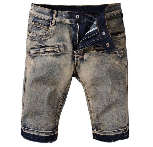 Denim Mixed Jean Shorts