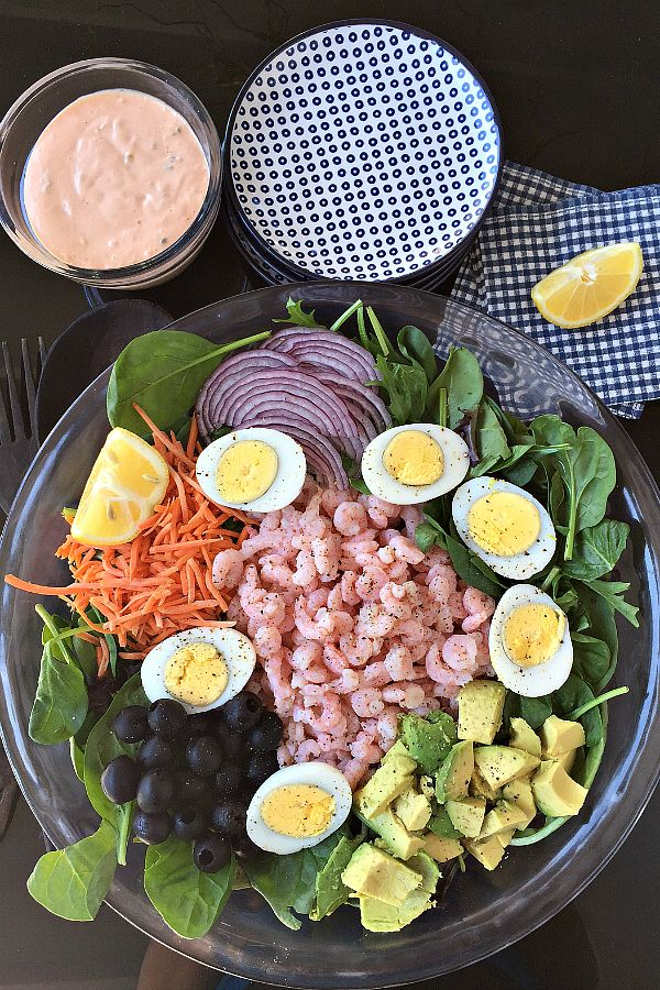 Classic Shrimp Salad with Thousand Island Dressing