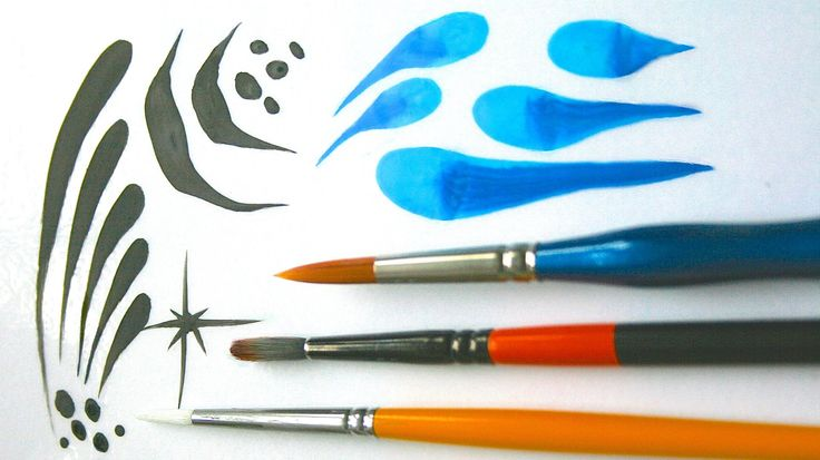 Face Painting Made Easy PART 3 - Round brushes are very important in face painting. They are perfect for line work, teardrops, swirls and much more! Learn to...