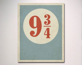 Platform 9 3/4 Harry Potter Decor by DimestoreSaintDesign on Etsy